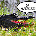 GO GATORS Greeting Card Print by Al Powell Photography USA
