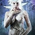 Goddess of Water Print by Michael  Volpicelli