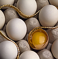 Gold And Eggs Print by J L Woody Wooden