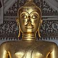Golden Buddha Temple Statue Poster by Antony McAulay