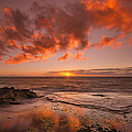 Golden Hawaii Sunset  Print by Tin Lung Chao