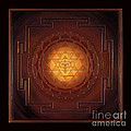 Golden Sri Yantra Print by Charlotte Backman