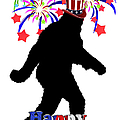 Gone Squatchin - 4th of July Poster by Gravityx Designs
