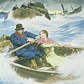 Grace Darling And Her Father Rescuing Print by Trelleek