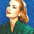 Grace Kelly Painting Print by Sanely Great