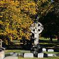 Graceland Cemetery Chicago - Tomb of John W Root Print by Christine Till