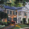 Graceland Home of Elvis Print by Cecilia  Brendel