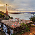 Graffiti by the Golden Gate Bridge Poster by Sarit Sotangkur