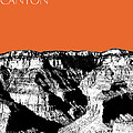 Grand Canyon - Coral Print by DB Artist