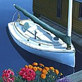 granville island catboat Print by Gary Giacomelli