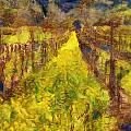Grapevines and Mustard Poster by Alberta Brown Buller