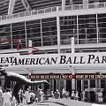 Great American Ball Park And The Cincinnati Reds Poster by Dan Sproul