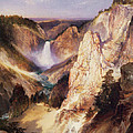 Great Falls Of Yellowstone Print by Thomas Moran
