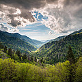 Great Smoky Mountains Landscape Photography - Spring at Mortons Overlook Print by Dave Allen