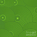 Green Abstract Print by Frank Tschakert