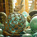 Green Glass Japanese Glass Floats Poster by Artist and Photographer Laura Wrede