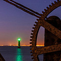 Green Lighthouse Poster by Semmick Photo