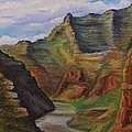 Green river Utah Print by Lucy Deane