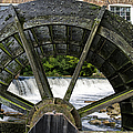 Grist Mill Wheel With Spillway Poster by Thomas Woolworth