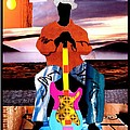 Guitar Man Print by Everett Spruill