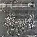 Guitar Patent Print by Nick Pappas