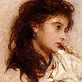 Gypsy Girl Print by George Elgar Hicks