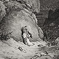 Hagar and Ishmael in the Desert Print by Gustave Dore