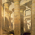 Hall Of Columns, Karnak, From Egypt Print by David Roberts