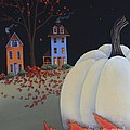Halloween on Pumpkin Hill Print by Catherine Holman