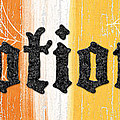 Halloween Potions Sign Print by Linda Woods