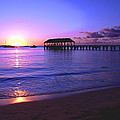 Hanalei Bay Pier Sunset Poster by Brian Harig