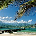 Hanalei Pier and beach Print by M Swiet Productions