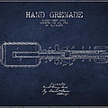 Hand Grenade Patent Drawing from 1916 Print by Aged Pixel