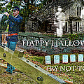 HAPPY HALLOWEEN-TRY NOT TO SCREAM Poster by EricaMaxine  Price