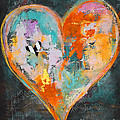 Happy Heart Abstracted Print by Anahi DeCanio