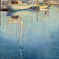 Harbor Reflection Print by Sharon Weaver