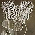 Harley Davidson Engine Print by Dan Sproul