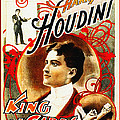 Harry Houdini - King of Cards Poster by Digital Reproductions