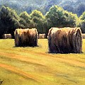 Hay Bales Print by Janet King