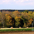 Haybales in Solebury Print by Addie Hocynec