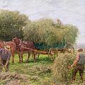 Haymaking Poster by Arthur Hopkins
