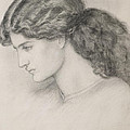 Head Of A Woman Poster by Dante Gabriel Charles Rossetti