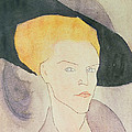 Head of a Woman wearing a hat Poster by Amedeo Modigliani