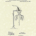 Head Washer 1887 Patent Art Poster by Prior Art Design