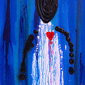 Heart and Soul - Angel Art Blue Painting Poster by Sharon Cummings