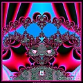 Hearts Ballet Curtain Call Fractal 121 Poster by Rose Santuci-Sofranko