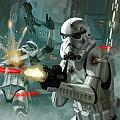 Heavy Storm Trooper - Star Wars the Card Game Print by Ryan Barger