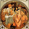 Heidsieck Champagne Poster Advert Print by Alphonse Mucha