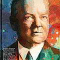 Herbert Hoover Print by Corporate Art Task Force