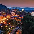 Hermann Missouri - a most beautiful town Print by Tony Carosella